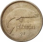 Ireland Florin 1964 KM# 15a Republic FLÓIRÍN 2S PM coin reverse