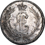 Russia Grivennik Siberia Novodel 1764 KM# N16 Е ІІ coin obverse
