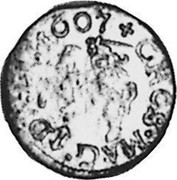 Lithuania Grosz 1607 with shield under Vytis KM# 9 Standard Coinage coin reverse