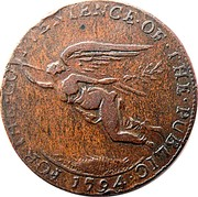 Ireland Halfpenny Cork - J E & Co 1794  FOR ∙ THE ∙ CONVENIENCE ∙ OF ∙ THE ∙ PUBLIC ∙ 1794 ∙ coin obverse