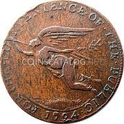 Ireland Halfpenny (Cork - J E & Co) FOR · THE · CONVENIENCE · OF · THE · PUBLIC · 1794 · coin obverse