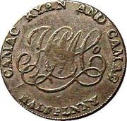 Ireland Halfpenny (Dublin - Camac Kyan and Camac) CAMAC KYAN AND CAMAC HALFPENNY coin reverse