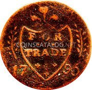 Ireland Halfpenny (Dublin - Cornwell's) FOR TRADE 17 95 coin reverse
