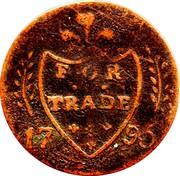Ireland Halfpenny (Dublin - Cornwell's) FOR TRADE 17 95 coin reverse