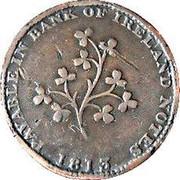 Ireland Halfpenny Dublin - Hilles Ironmongers 1813  PAYABLE IN BANK OF IRELAND NOTES 1813 coin reverse
