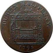 Ireland Halfpenny Dublin - Parker's 1795  DUBLIN HALFPENNY. 1795 coin reverse