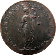 Ireland Halfpenny Dublin - Talbort Fyan 1794  FOR THE HONOR AND USE OF TRADE. coin obverse