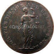 Ireland Halfpenny (Dublin - Talbort Fyan) FOR THE HONOR AND USE OF TRADE. coin obverse