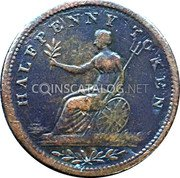 Canada Halfpenny (Field Marshal Wellington. Small letters) HALFPENNY TOKEN coin reverse