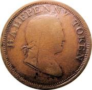 Ireland Halfpenny Hibernicus 1820  HALFPENNY TOKEN coin obverse