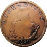 Ireland Halfpenny Hibernicus 1820  HIBERNICUS 1820 coin reverse