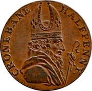 Ireland Halfpenny (Wicklow - Cronebane Miners Arms) CRONEBANE HALFPENNY coin obverse