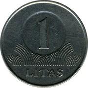 Lithuania Litas 1999 KM# 111 Reform Coinage 1 LITAS coin reverse