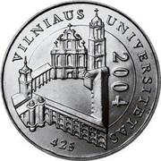 Lithuania Litas 425th anniversary of Vilnius University 2004 KM# 137 VILNIAUS UNIVERSITETAS 2004 425 coin reverse