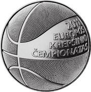 Lithuania Litas European Basketball Championship 2011 KM# 177 2011 EUROPOS KREPŠINIO ČEMPIONATAS coin reverse