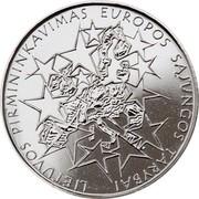 Lithuania Litas Lithuania's Presidency of the Council of the European Union 2013 KM# 182 LIETUVOS PIRMININKAVIMAS EUROPOS SĄJUNGOS TARYBAI coin reverse