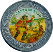 UK One Dollar Captain Kidd 1998 CAPTAIN KIDD coin reverse