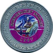 UK One Dollar Kingdom of Norway 1998 KONGERIKET NORGE 1997 coin reverse