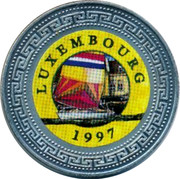 UK One Dollar Luxembourg 1998 LUXEMBOURG 1997 coin reverse