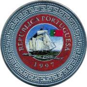 UK One Dollar Portuguese Republic 1998 REPUBLICA PORTUGUESA 1997 coin reverse