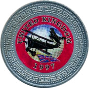 UK One Dollar United Kingdom 1998 UNITED KINGDOM 1997 coin reverse