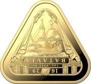 Australia One Hundred Dollars Batavia 2019 1629 1OZ .9999 AU BATAVIA coin reverse