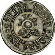 UK One Penny Birmingham & Swansea - Rose Copper Co 1812  COPPER TOKEN ONE PENNY coin reverse