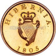 Ireland Penny 1805 Restrike. Proof KM# 148.2a Standard Coinage coin reverse