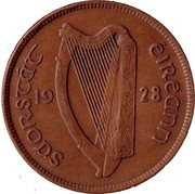 Ireland Penny 1928 KM# 3 Sterling Coinage SAORSTÁT EIREANN 19 28 coin obverse