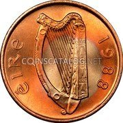 Ireland Penny 1988 KM# 20a Decimal Coinage coin obverse