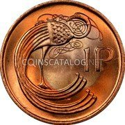 Ireland Penny 1988 KM# 20a Decimal Coinage coin reverse