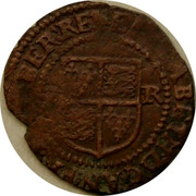 Ireland Penny Elizabeth I 1601 KM# 6.1 ELIZABETH.D.G.AN.FR.ET.HIBER.RE coin reverse