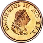 Ireland Penny George III 1805 Restrike. Proof KM# 148.2a GERGIUS III∙D:G∙REX. coin obverse
