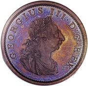 Ireland Penny George III 1805 Restrike. Proof KM# 148.2b GERGIUS III∙D:G∙REX. coin obverse