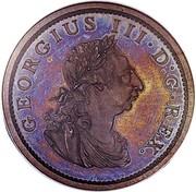 Ireland Penny George III 1805 Restrike. Proof KM# 148.2c GERGIUS III∙D:G∙REX. coin obverse