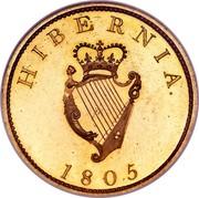Ireland Penny George III 1805 Restrike. Proof KM# 148.2d HIBERNIA 1805 coin reverse