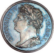 Ireland Penny George IV 1822 KM# 151 GEORGIUS IV D: G: REX coin obverse
