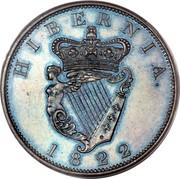 Ireland Penny George IV 1822 KM# 151 HIBERNIA. 1822 coin reverse