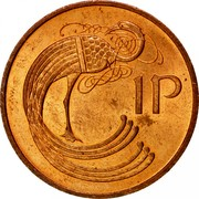 Ireland Penny Non magnetic 1971 KM# 20 1 P coin reverse