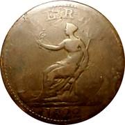 Ireland Penny Penny Token 1822  HIBERNIA 1822 coin obverse