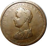 Ireland Penny Penny Token 1822  LUKE XX:CHAP. XXV. VER. coin reverse