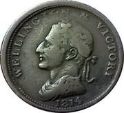 Ireland Penny Wellington - Edward Bewley 1816  WELLINGTON & VICTORY I PARKES 1814 coin obverse