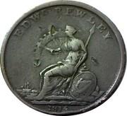 Ireland Penny Wellington - Edward Bewley 1816  EDWD BEWLEY I P F PARKES 1816 coin reverse