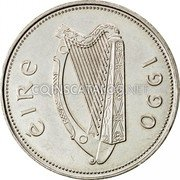 Ireland Punt 1990 Proof KM# 27 Decimal Coinage coin obverse