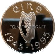 Ireland Punt 1995 Proof KM# 30 Decimal Coinage coin obverse