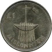 Ireland Punt Millennium 2000 KM# 31 £1 MILLENNIUM coin reverse