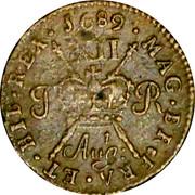 Ireland Shilling 1689 Proof, Aug KM# 94a Gun Money Coinage IACOBVS • II • DEI • GRATIA • coin reverse