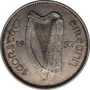 Ireland Shilling 1937 KM# 6 Sterling Coinage SAORSTÀT ÉIREANN 19 37 coin obverse
