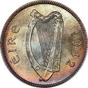 Ireland Shilling 1942 KM# 14 Republic ÉIRE 1940 coin obverse