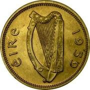 Ireland Shilling 1959 KM# 14a Republic ÉIRE 1964 coin obverse